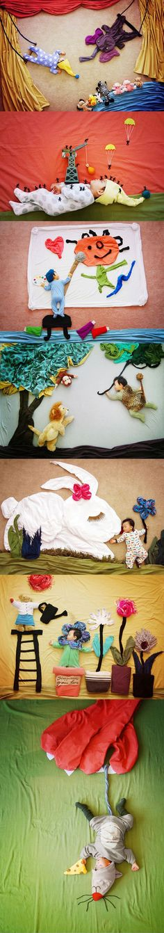 "Creative mom turns her baby's naptime into ""dream"" adventures (more pics if you… Photo Bb, Jolie Photo, Funny Baby Pictures, Newborn Pictures, Funny Pics, Funny Babies, Cute Babies, Funny Baby Photography, Art Photography"
