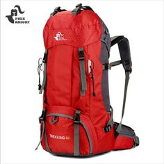 19a41891a7 FREEKNIGHT 60L Camping Hiking Backpacks for Climbing Travelling Outdoor Sport  Backpack Water Resistant with Rain Cover