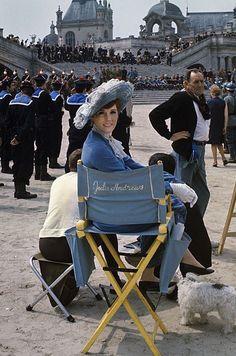 1970 Darling Lili. Julie Andrews backstage