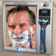 Fog-Free Shaving Mirror