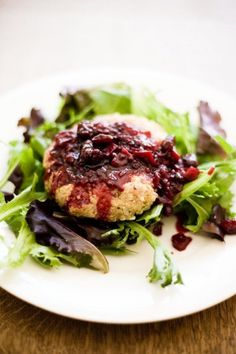 Quinoa Burgers with Savory Blackberry Coulis