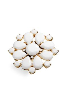 kate spade new york 'fiorella' floral ring White Stone, Bangles, Bracelets, Fashion Rings, White Rings, Kate Spade, Nordstrom, Stud Earrings, Pure Products