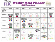Fit Life Bound   Meal Plan w/ Recipes - Hammer & Chisel, 21 Day Fix - Count Containers not Calories!