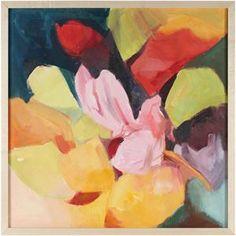 "28849- Anna Poole, Late 20th Century-Early 21st Century, Oil on Canvas, 21""x21"" Framed"