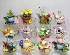Lovely little mini teapots by artist Loredana Tonetti.