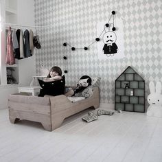 Papel rombos Harlequin gris   telas & papel