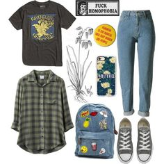 Ravenclaw by sofiapetronella on Polyvore featuring moda, RVCA, Warner Bros., Converse and Casetify