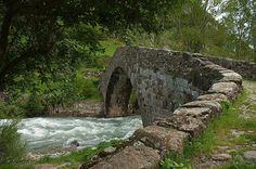 Camino:  Bridge of Canfranc Pilgrims on the River Aragon