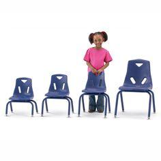 Jonti-Craft Berries Plastic Chairs with Powder Coated Legs - 8120JC1007