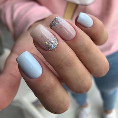 Simple Gel Nails, Cute Gel Nails, Short Gel Nails, Cute Acrylic Nails, Pink Nails, Shellac Nails Fall, Nail Manicure, Manicure Ideas, Stylish Nails