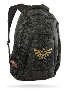 1b19b24363a Nintendo Hyrule Logo Backpack - David used this until it was worn through!