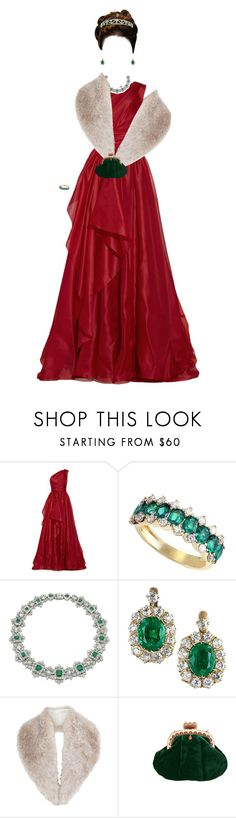 """""""Christmas Princess"""" by daughter-of-apollo92 ❤ liked on Polyvore featuring Marchesa, Effy Jewelry, Cartier, Chaumet, Coast and Christmas"""