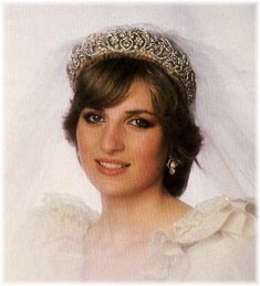 Diana Spencer wearing The Spencer Tiara.