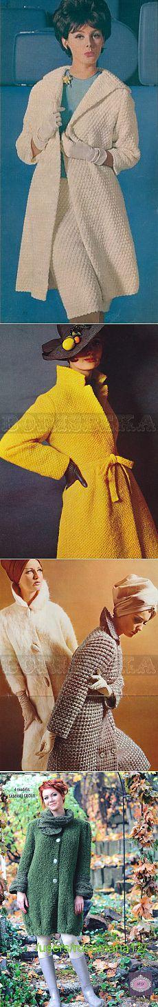 Пальто, куртки спицами just inspiration, no pattern