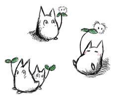 chibi totoro sketches!