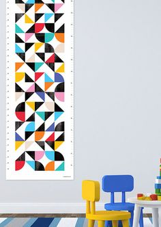 Etsy find of the day - geometric height chart