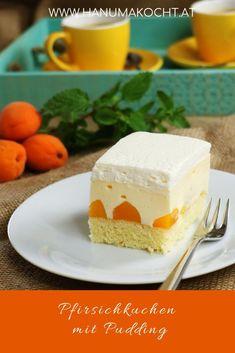Peach cake with pudding - Rezepte - Cupcakes Easy Smoothie Recipes, Snack Recipes, Dessert Recipes, Snacks, Raspberry Smoothie, Apple Smoothies, Cinnamon Cream Cheese Frosting, Cinnamon Cream Cheeses, Peach Cake