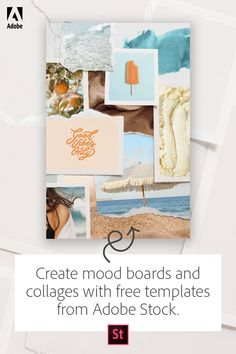 Create more with free mood board and collage templates from Adobe Stock.