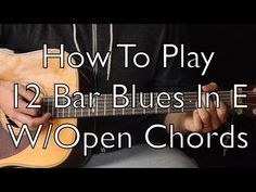 Easy Acoustic Blues - Play 12 bar blues with Open Chords Guitar Songs For Beginners, Guitar Chords Beginner, Guitar Chords For Songs, Guitar Tips, Music Chords, Music Theory Guitar, Music Guitar, Playing Guitar, Learning Guitar
