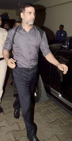 Akshay Kumar at the screening of 'Baby' for the Mumbai Police.