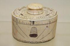 1811 Scrimshaw Child's Ivory Sewing Box