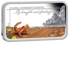 Sunburnt Country - Of droughts and flooding rains 2015 1oz Silver Proof Rectangle Coin