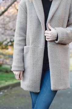 Silvia Coatigan and BurdaStyle 6990 Turtleneck — Baste + Gather Coatigan, The Way I Feel, Schneider, Black Sneakers, Street Style Looks, Lining Fabric, Cotton Silk, Cool Things To Make, How To Look Better