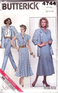 Jacket, skirt, top and pants Sizes 10 12 14 Uncut factory folded