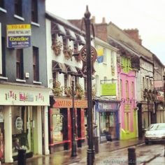 Even on a wet grey November day, Ennis is cheerful outside and in!