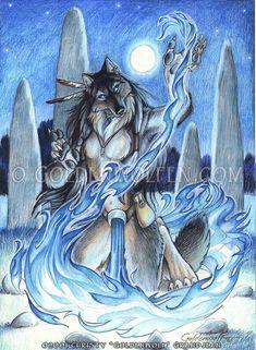Blue Fire by Goldenwolf on deviantART