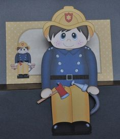 3D on the Shelf Card Kit - Firefighter Fireman Frank - Gallery | Craftsuprint