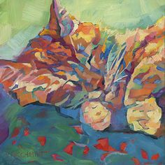Animal paintings and pet portraits by Louisiana artist Karen Mathison Schmidt, impressionist and colorist animal art.