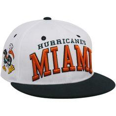 Zephyr Miami Hurricanes White-Green Superstar Snapback Hat by Zepher  Graf-X.  21.95 bdc696143
