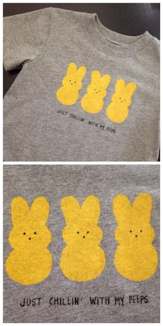 Just chillin' with my peeps - Easter shirt