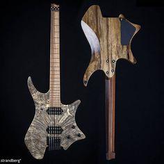 Kenan Kuntsal's #73 .strandberg* made to measure headless guitar shipped today! #strandberg #strandbergguitars #goheadless #madetomeasure #woodporn #buckeyeburl #headlessguitars