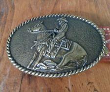 Western Cowboy Riding Horse Vintage Belt Buckle c48 Plus Cool Western Belt