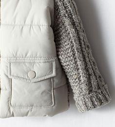 COMBINATION THREE QUARTER LENGTH COAT from Zara