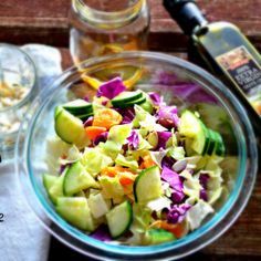 Learn how to make this Dr. Oz's Detox Protein Packed Cabbage Salad to satisfy your lunchtime hunger and flush fat from your system. Cabbage Salad Recipes, Healthy Salad Recipes, Diet Recipes, Cooking Recipes, Healthy Tips, Healthy Meals, Chicken Recipes, Inspire Protein