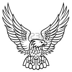 Illustration about Vector illustration. white and black eagle. Illustration of bird, feather, america - 4379407 Eagle Drawing, Wings Drawing, Unique Drawings, Art Drawings, Eagle Images, Eagle Vector, Tattoo Hals, Eagle Art, Eagle Wings