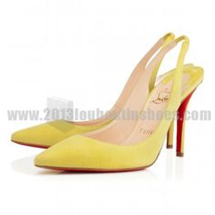 d0cacf2de7 The Key To Fashionable And Perfect World With Apostrophy Sling 100mm Suede Anis  Christian Louboutin Sale