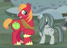 Big Mac and Marble Pie; so perfect Mlp My Little Pony, My Little Pony Friendship, Marble Pie, Big Macintosh, Rock Family, Mlp Pony, Pony Pony, Night In The Wood, Character Sketches