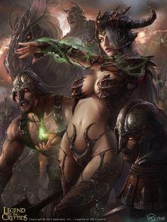Artist: Yang Mansik aka yam8417 - Title: rill LOC - Card: Demon-Fused Marilou