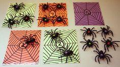 Spider Number Matching Halloween Week, Halloween Math, Halloween Activities, Halloween Projects, Halloween Themes, Happy Halloween, Fall Preschool, Preschool Themes, The Very Busy Spider