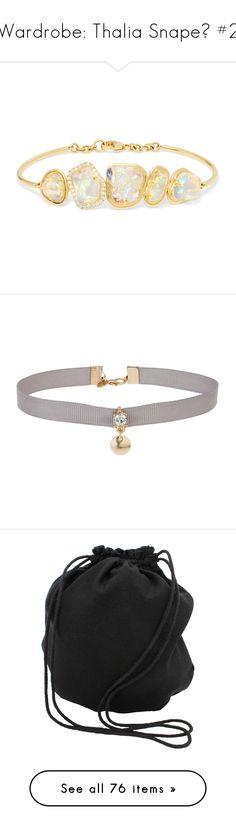"""Wardrobe: Thalia Snape🌗 #2"" by moon-crystal-wolf ❤ liked on Polyvore featuring jewelry, bracelets, bracelete, kimberly mcdonald, 18 karat gold bangles, 18k jewelry, opal jewellery, diamond jewellery, necklaces and accessories"