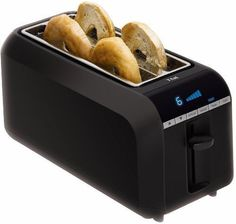 T-fal TL6802 4-Slice Digital Toaster with Bagel Function, Black New    ebay  $40; cooking.com $40 4****; supposedly available at Kohl's & Bed, Bath & Beyond; $44 Best Buy