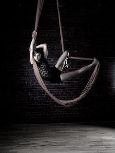 Aerial Hammock - Hung high on the ceiling like aerial silks