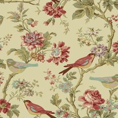 fontainebleau floral rose wallpaper - Google Search
