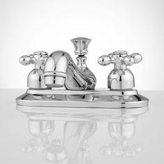 But in BRASS // Teapot Centerset Bathroom Faucet - Cross Handles