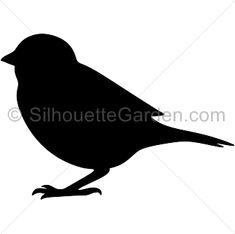 Sparrow silhouette clip art. Download free versions of the image in EPS, JPG, PDF, PNG, and SVG formats at http://silhouettegarden.com/download/sparrow-silhouette/