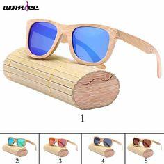 cedb95cc91b New 2017 Bamboo Frame Square Wooden Sunglasses Women Men Retro Vintage  Eyewear Unisex Male Glasses Oculos De Sol Madeira UV400-in Sunglasses from  Women s ...